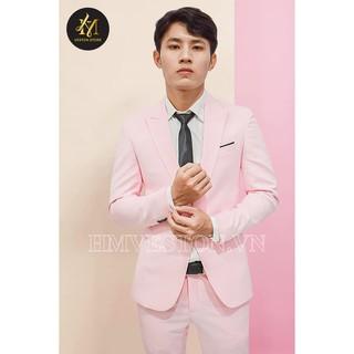Yêu ThíchBộ vest nam ôm body màu hồng cá tính