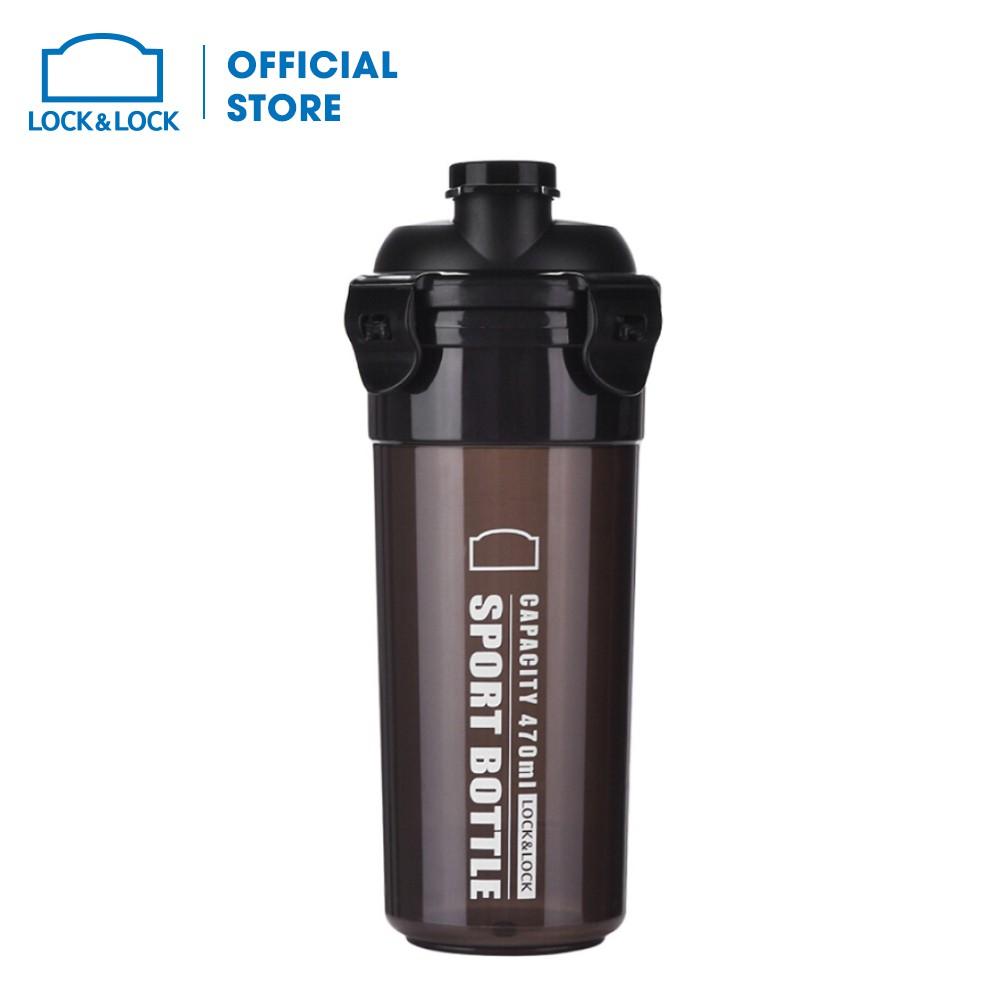 Bình nhựa đựng nước Sports Lock&Lock , 470ML Màu Đen HPL931NBK-PR