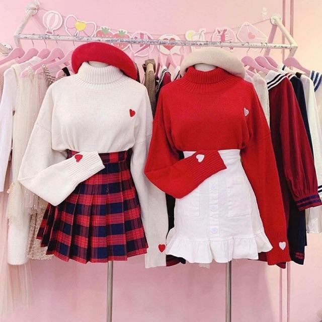 Chân váy tennis skirt sọc caro đỏ