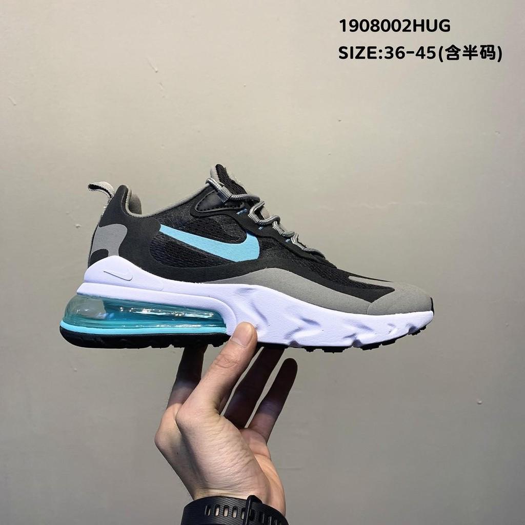 Nike Air Max 270 React  high-frequency mesh function half palm air cushion cushioning running shoes