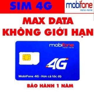 SIÊU HÓT FREE 1 NĂM KO PHẢI NẠP TIỀN SIM 4G MOBIFONE MAX BĂNG THÔNG 1 TỶ GB DATA KO GIỚI HẠN BL5GT/DIP50