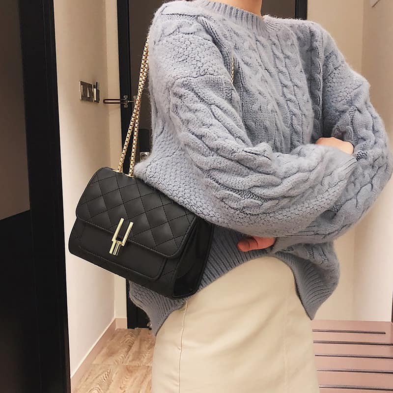 Túi đeo chéo nữ trần trám bút chì GT 417