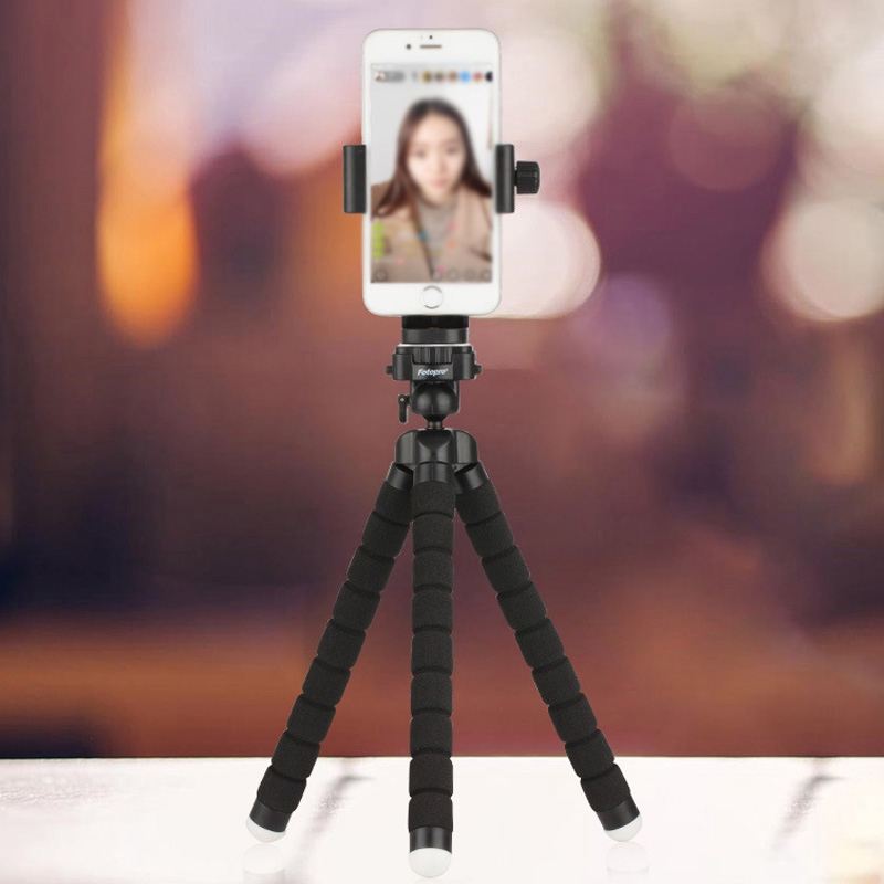 """Universal Cell Phone Clip Bracket Tripod Adapter Smartphone Holder 1/4"""" Rotate"""