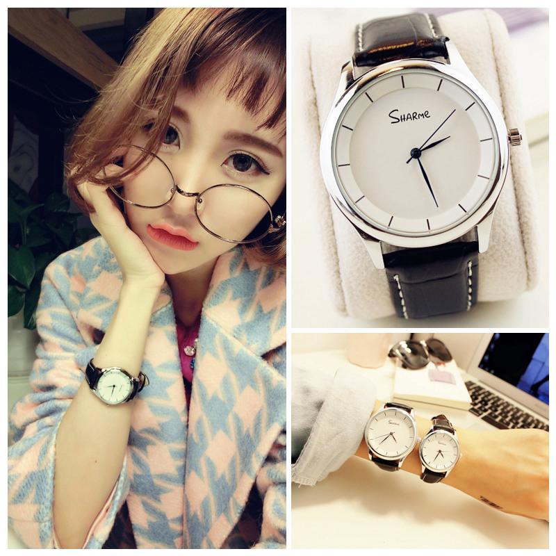 đồng hồ đeo tay kiểu dáng đơn giản thời trang cho nam/nữ
