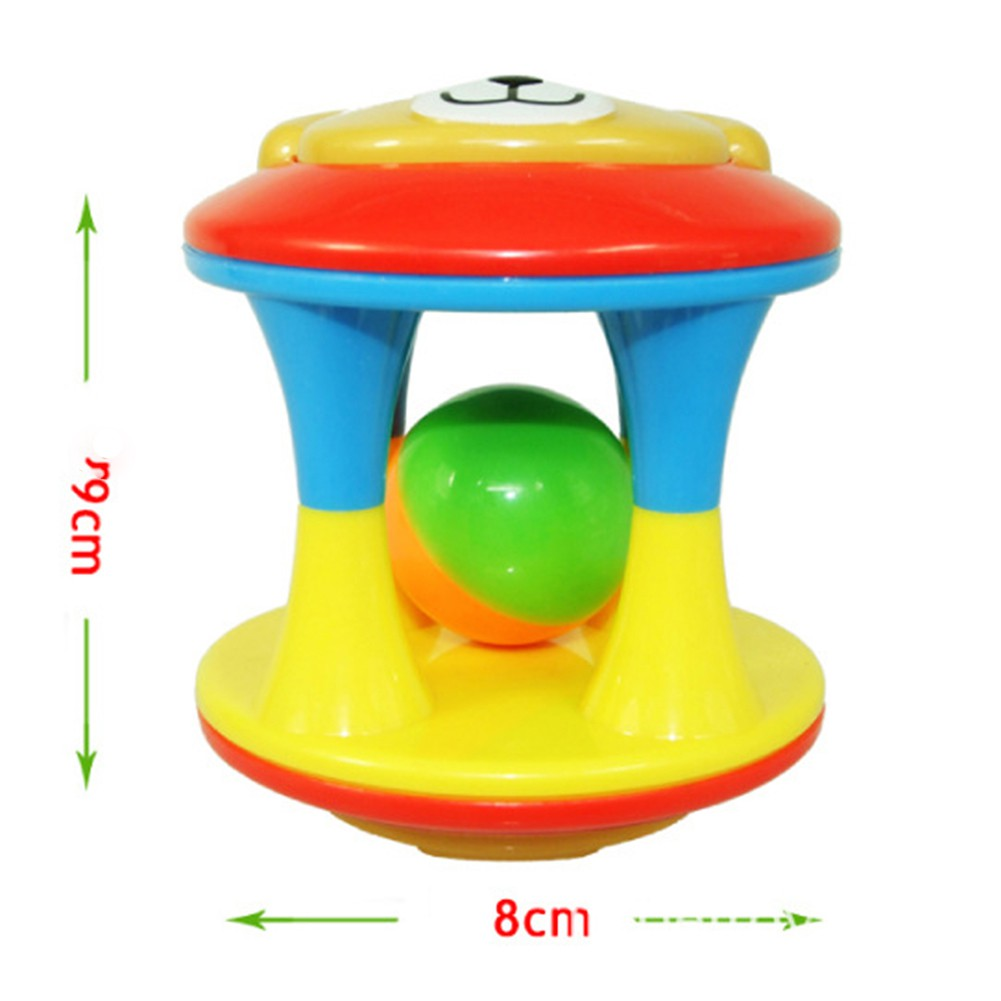 Toddle Baby Colorful Rolling Ball Infant Rattle Ring Bell Grasping Toy