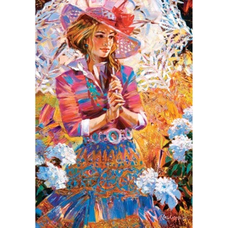 "Tranh ghép hình Castorland 1500 mảnh ""A girl with an openwork umbrella"""