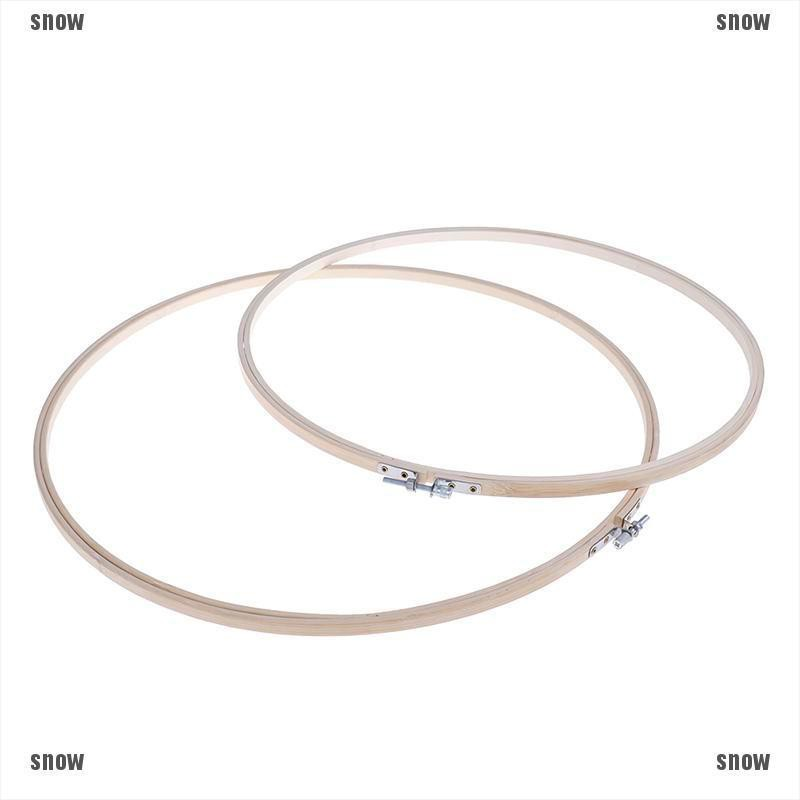 [snow]36/40cm Bamboo Frame Embroidery Hoop Ring DIY Cross Stitch Machine Loop Sewing