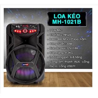 Loa  mini,loa kẹo kéo karaoke mobell 1021, bass 25cm, công suất 30w, thời lượng pin6,8 giờ 1021A
