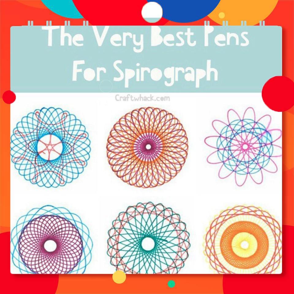 [RẺ] Bộ Thước Vẽ Họa Tiết, Hoc Vẽ Sáng Tạo Spirograph No:2143