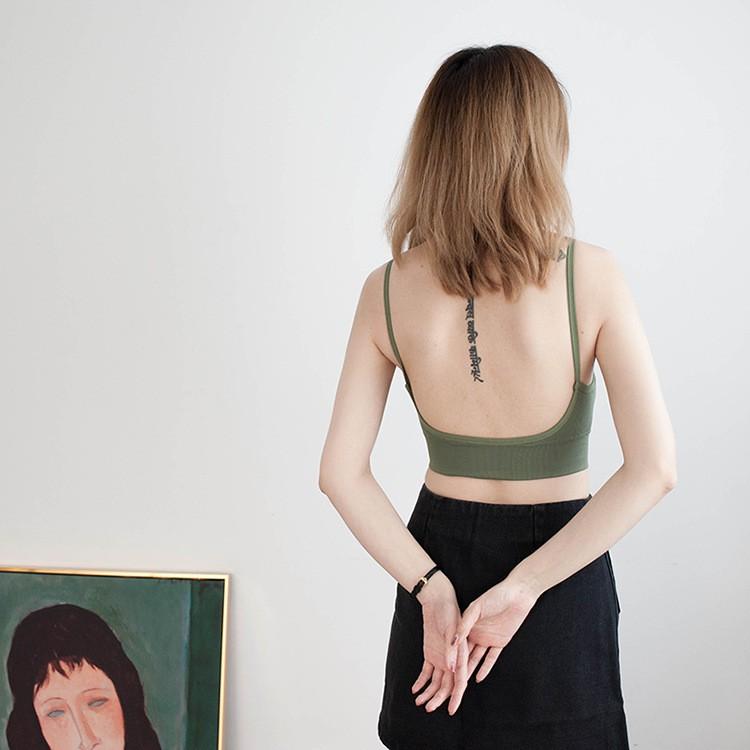 Áo bra len tăm hở lưng