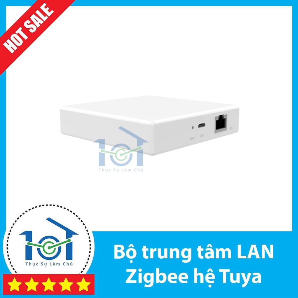 Bộ trung tâm Zigbee nhà thông minh hệ Tuya/SmartLife | BH 12 THÁNG | Loại cắm cổng LAN - Hub Tuya Zigbee