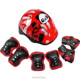 Helmet Protector Set Protective Gear Sports Outdoor Skating Roller Elbow 7pcs/set Adjustable Safeguard For Kids