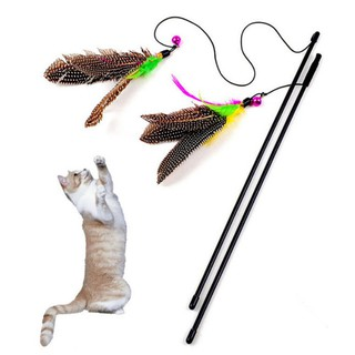 High Quality Pet Cat Toy Newly Design Bird Feather Plush Plastic Toy for Cats Cat Catcher Teaser Toy Free Shipping