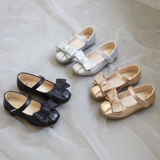 Giày búp bê bé gái - Giầy da búp bê đính nơ công chúa cho bé gái da PU đế chống trơn trượt cho bé từ 1 đen 5 tuổi M78 thumbnail