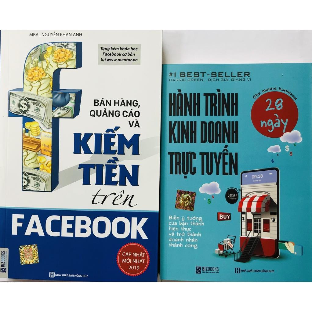 Sách - Combo Hành trình kinh doanh trực tuyến 28 ngày+Bán hàng, quảng cáo và kiếm tiền trên Facebook