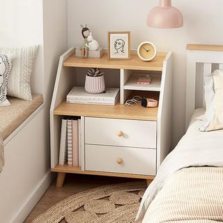 Kệ gỗ tab đầu giường Ruxi kiểu Bắc Âu hiện đại