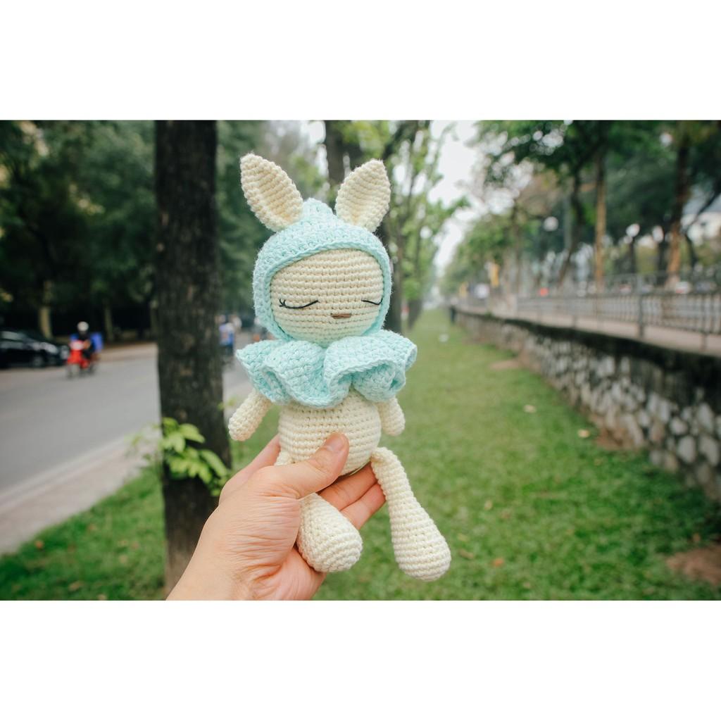 Thú bông tặng bé - Thỏ cổ bèo - Toys made by The Bunny