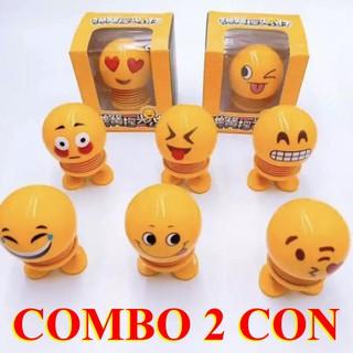 Combo 2 con Thú Emoji Lò Xò nhún cảm xúc – Thú nhún