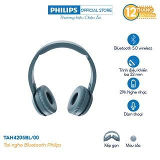Tai nghe Philips Bluetooth TAH4205BL/00 - Màu xanh - Hàng Chính Hãng