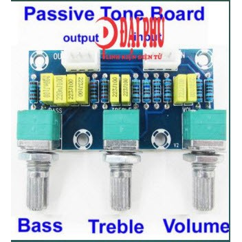 Mạch chỉnh âm sắc thụ động | Passive Tone Board Power Amplifier Front Level High and Low Voltage