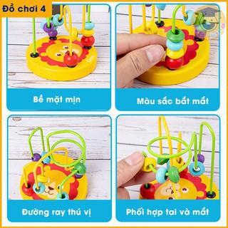 [TẾT SALE HẾT] Đồ chơi Luồn hạt gỗ size nhỏ cho bé