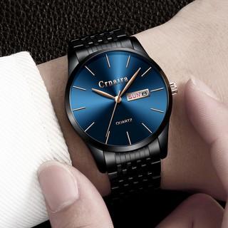 Đồng hồ nam CRNAIRA JAPAN _ có lịch thứ và ngày dây thép không gỉ cao cấp