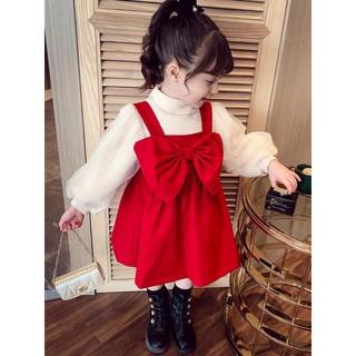 Set yếm đỏ áo trắng dành cho bé ( 9-24kg) kéo sang phải xem video