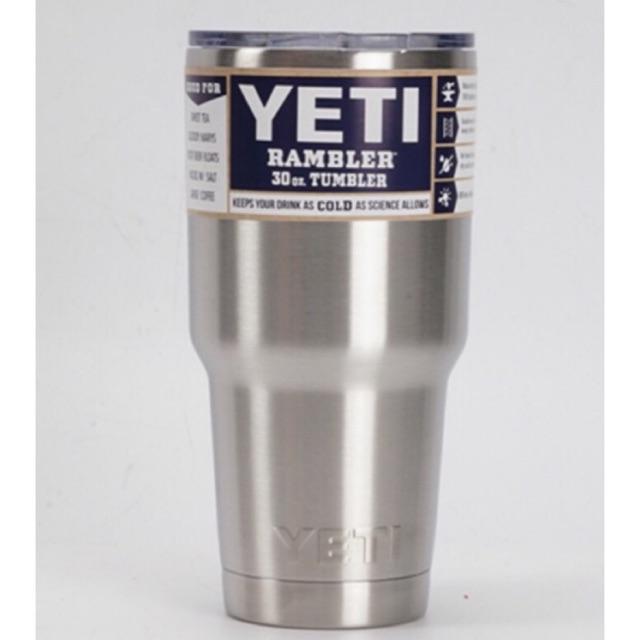 LY GIỮ NHIỆT YETI Inox Trơn 900ML (Logo YETI dập nổi - full phụ kiện)