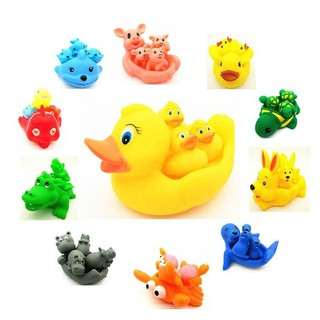 HSD✲A Large Animal Screaming Sound Picture Children Bath Toys