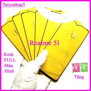 Kính cường lực REALME 5I, Kính cường lực full màn hình, Ảnh thực shop tự chụp, tặng kèm bộ giấy lau kính TAIYOSHOP5 thumbnail