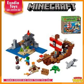 Xếp hình MineCraft : Tàu cướp biển thám hiểm – Đồ Chơi Lắp Ghép Sáng Tạo – BELA 11170 Lego Ideas 21152