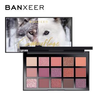 Bảng phấn mắt BANXEER BX17 15 màu kèm cọ tiện dụng 200g