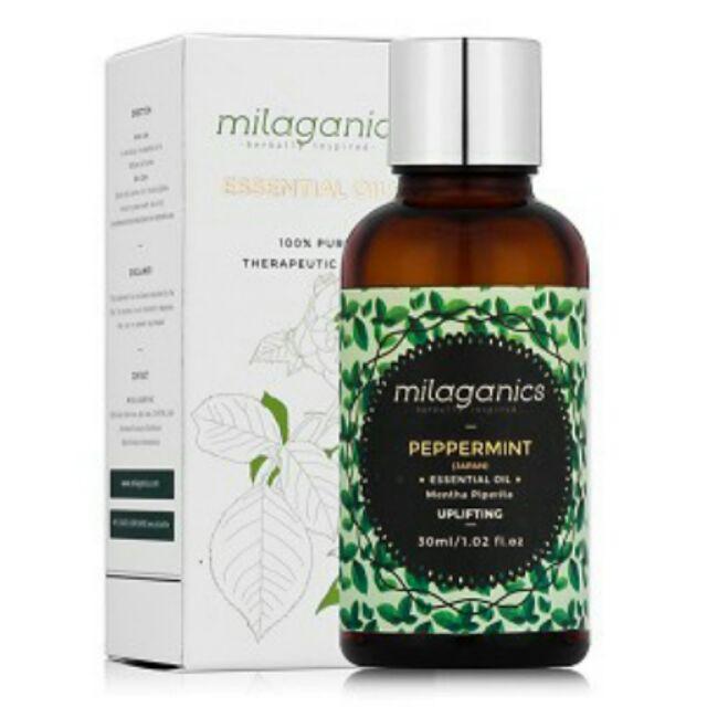 Tinh dầu bạc hà Milaganics 30 ml