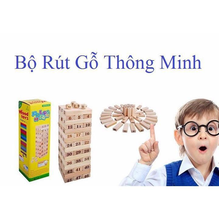 Bộ Trò Chơi Rút Gỗ 54 Thanh Wiss Toy KHENGFENG