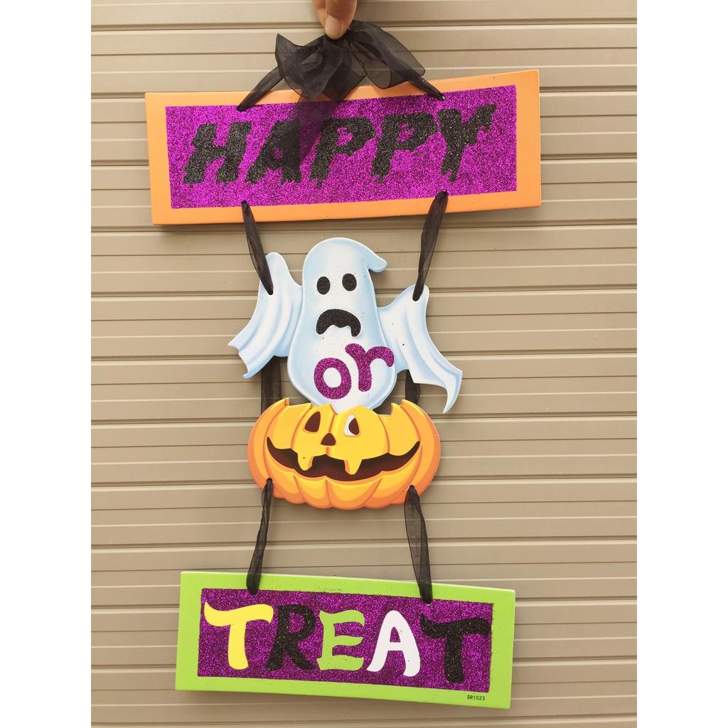Bảng trang trí Halloween mẫu ma chơi 45cm x 28cm