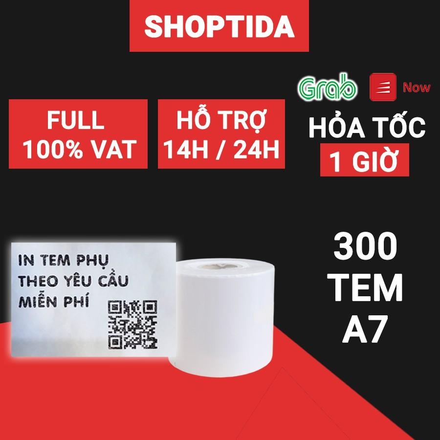 Giấy in nhiệt Shoptida 300 tờ 7*10cm 3 lớp tự dán chống nước, sử dụng cho máy in nhiệt Shoptida SP46
