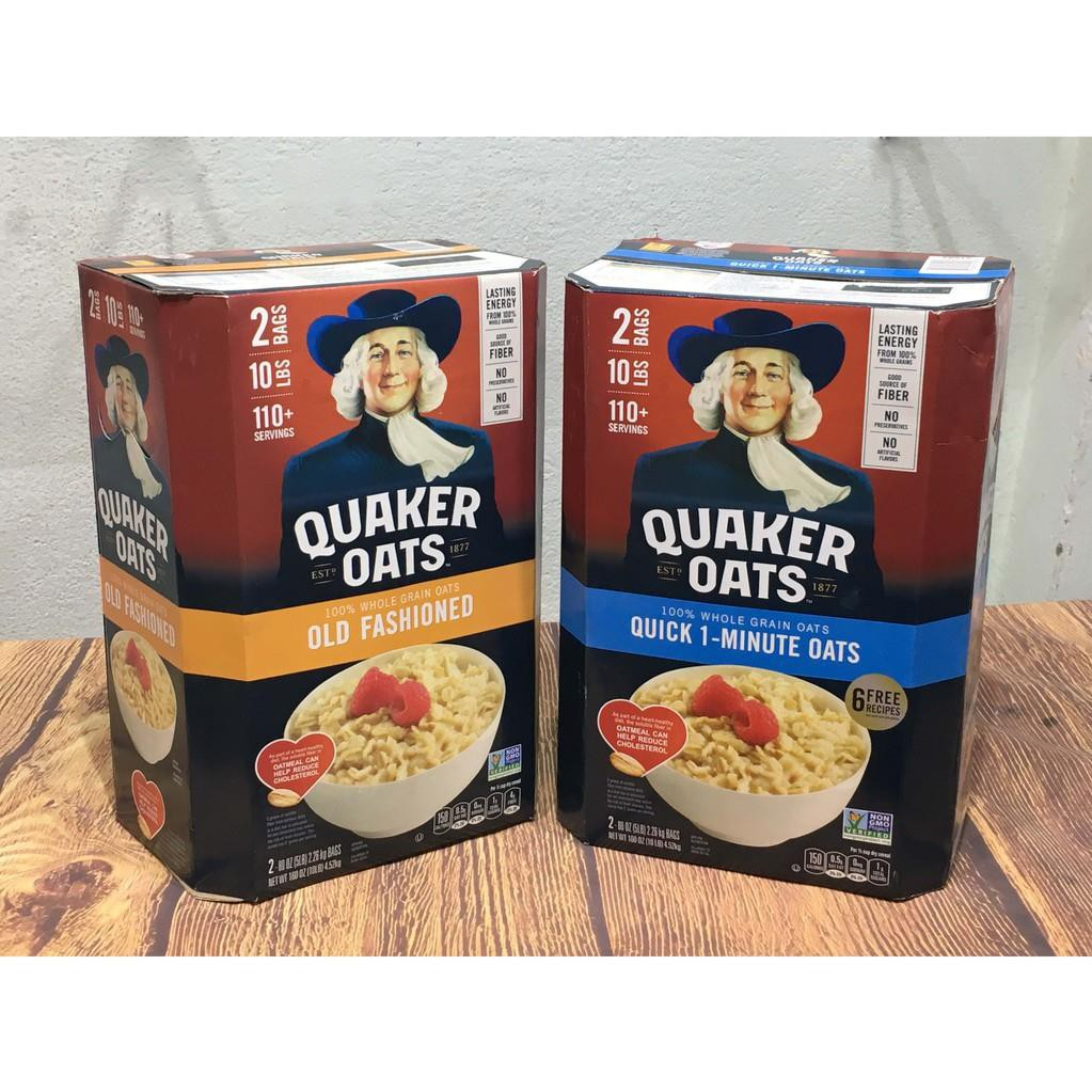 Yến Mạch giảm cân thương hiệu Quaker Oats Thùng 4,52kg