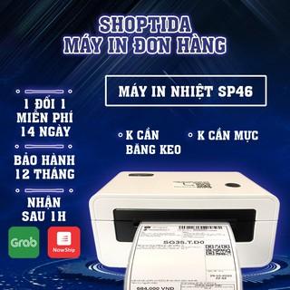Máy in nhiệt Shoptida SP46 in đơn hàng, tem minicode, tem phụ, livestream sử dụng giấy in nhiệt tự dán bảo hành 12 tháng thumbnail