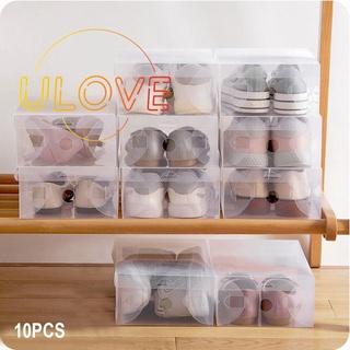 Set 10 hộp nhựa trong suốt đựng giày tiện dụng