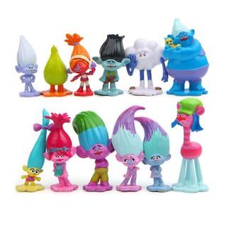 CL-12pcs/lot Trolls Action Figure Poppy Simulation Model Kids Toys Children Gift