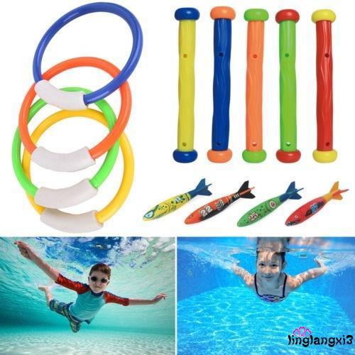GGL-Hot Kids Summer Fun Toy Diving Rings Sticks Balls Swimming Pool Underwater