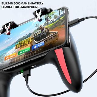 Tay cầm chơi game 5 trong 1 chơi game mobile PUBG, FREEFIRE, ROS, COD có tản nhiệt, tặng kèm nút bấm chuyên dụng NQ SHOP thumbnail