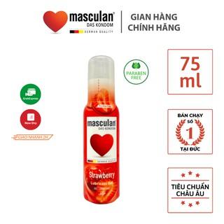 Gel bôi trơn cao cấp Masculan Strawberry - Hương dâu tây ngọt ngào - Gốc nước - Không chất bảo quản - An toàn - 75ml thumbnail