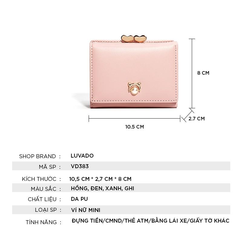 Ví nữ đẹp giá rẻ cầm tay mini TAOMICMIC nhiều ngăn thời trang cao cấp nhỏ gọn dễ thương LUVADO VD383