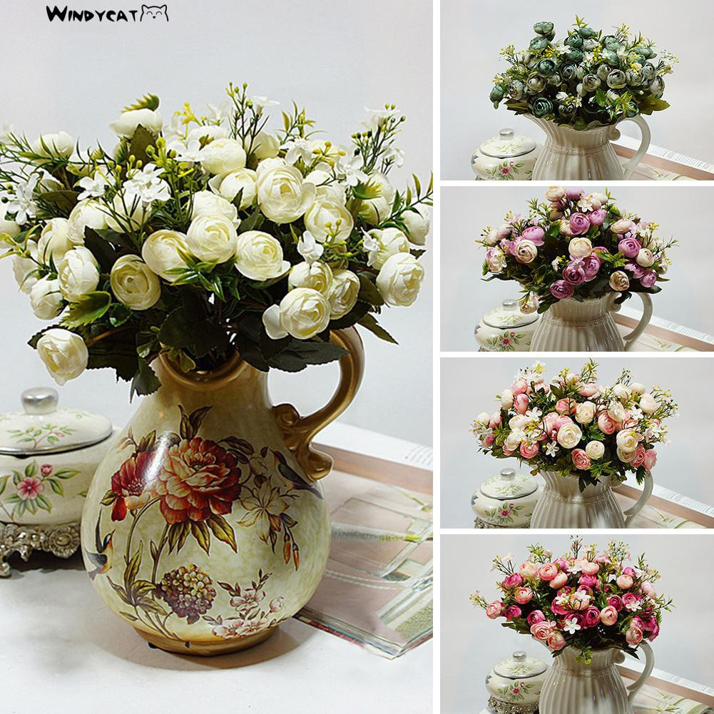 【NEW】【HOT】1 Bouquet 5 Branches Artificial Fake Flower Wedding Bridal Home Decor