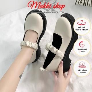 Boot nữ cổ thấp Loli quai chun, giày boots nữ đế cao thời trang giá rẻ MAKKI SHOP TD416 thumbnail