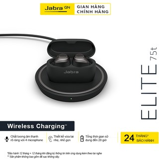 [Mã ELMALL1TR5 giảm 6% đơn 3TR] Tai Nghe Bluetooth True Wireless JABRA Elite 75T Sạc Wireless - Hàng Chính Hãng