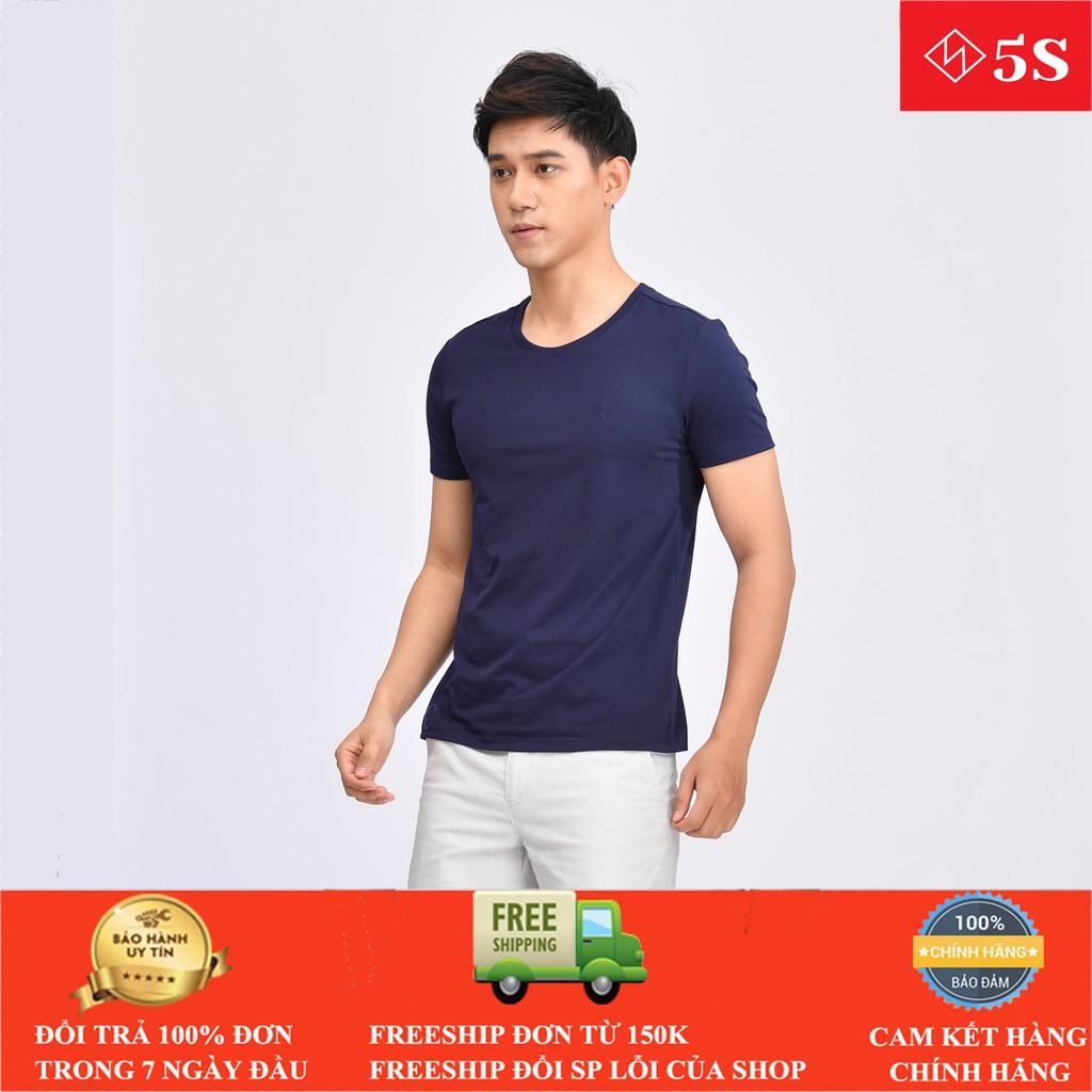 Áo Thun Nam Cổ Tròn 5S (6 màu) Tay Ngắn,Trẻ Trung, Mẫu Mới 2020