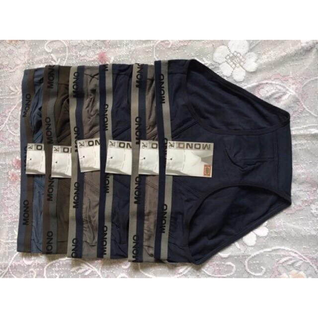 Quần lót nam cotton lưng vừa/ Quần sịp nam set 6 c