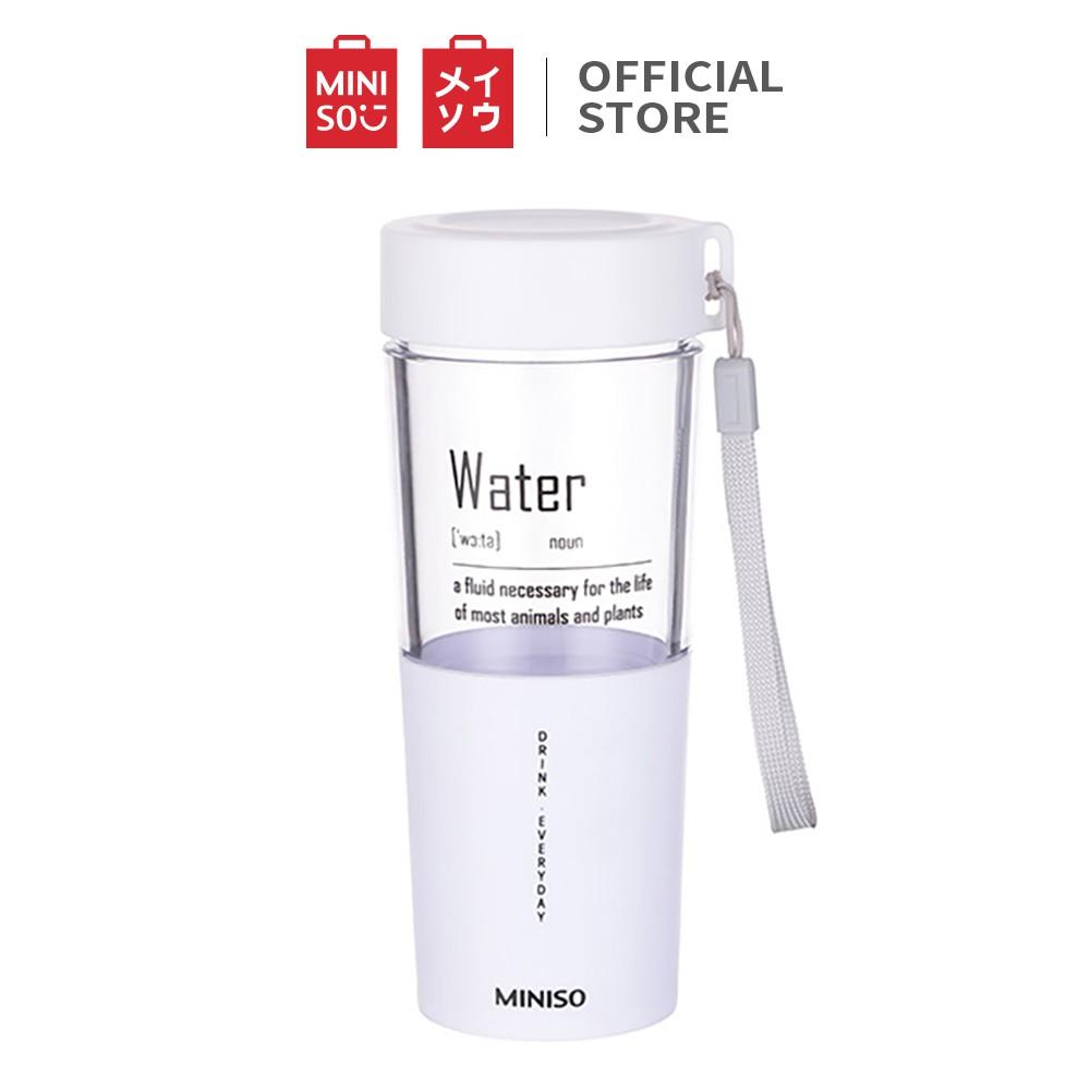 Bình đựng nước Miniso nhựa trong suốt 410ml